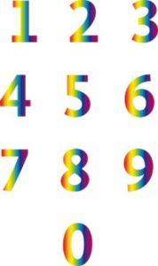 """Regenbogen-Zahlen aus dem Buch """"Seelencodes"""" von Roswitha Stark"""