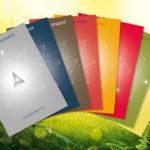 Kristallkarten zu den acht Stationen im Jahreskreis